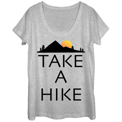 Womans: Take A Hike Scoop Neck T-shirts