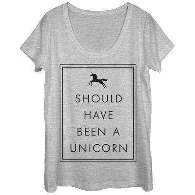 Womens: Shoulda Been A Unicorn Scoop Neck Shirts