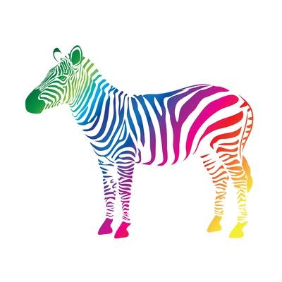 Zebra Color (Cmyk) Prints by  olive1976