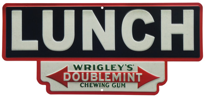 Lunch Wrigley's Doublemint Tin Sign