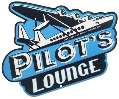 Pilot's Lounge Tin Sign