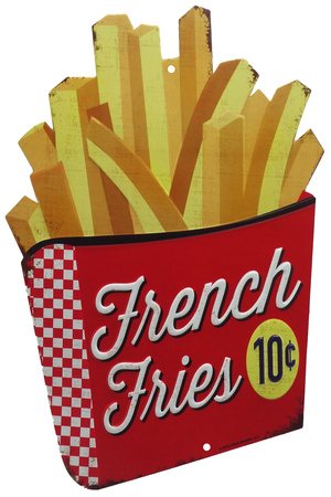 French Fries Tin Sign