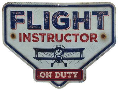 Flight Instructor Tin Sign