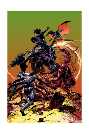 Carnage No.3 Cover, Featuring Spider-Man, Demogoblin, Shriek, Venom, Carnage and Doppleganger Prints by Mike Deodato