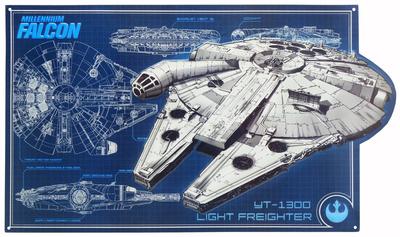 Star Wars Millenium Falcon Schematic Tin Sign