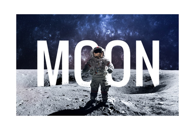 Brave Astronaut at the Spacewalk on the Moon. this Image Elements Furnished by Nasa. Posters by  Vadimsadovski