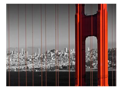 Golden Gate Bridge Panoramic View Posters by Melanie Viola
