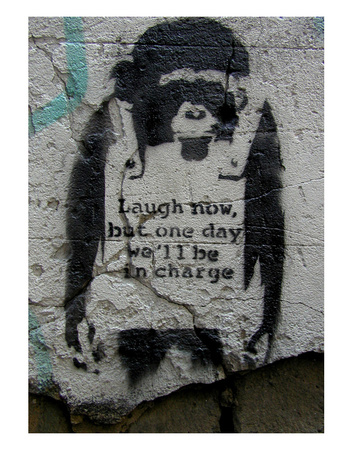 Laugh Now Láminas por  Banksy