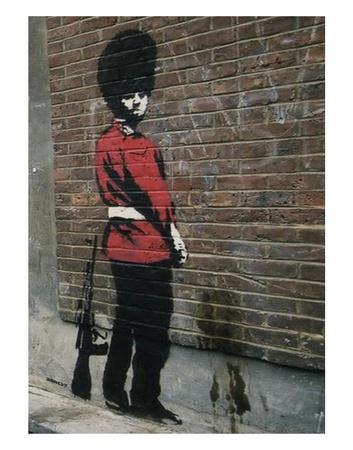 Pissing Soldier Konst av  Banksy