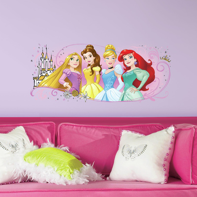 Disney Princess Friendship Adventures Peel and Stick Giant Wall Graphic Wall Decal