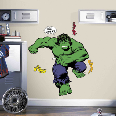 Classic Hulk Comic Peel and Stick Giant Wall Decals Wall Decal
