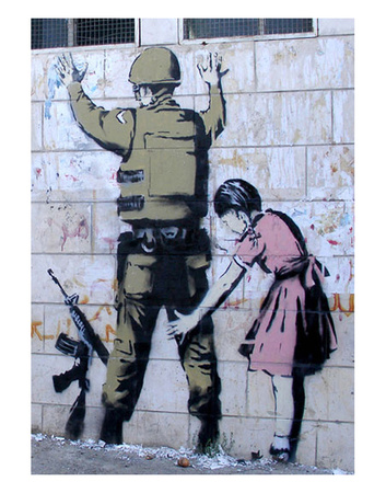 Soldier Searched by a Girl Posters by  Banksy