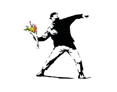 Flower Chucker Posters by  Banksy