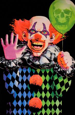 Evil Clown Blacklight Poster Posters