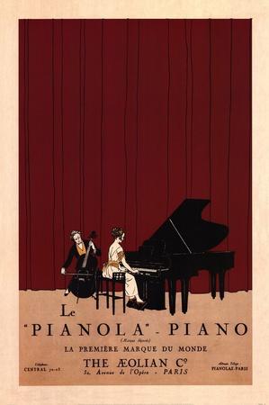 Le Pianola Prints by Susan W. Berman