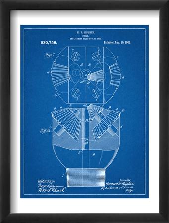 Howard Hughes Drill, Oil Drill Patent Zarámovaná umělecká reprodukce