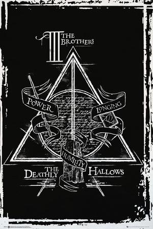 Harry Potter- Deathly Hallows Diagram plakat