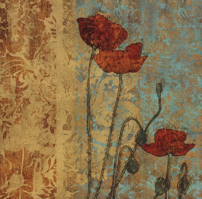 Poppy Pattern I Print by Eloise Ball
