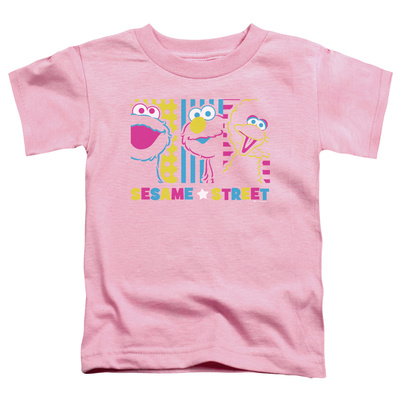 Toddler: Sesame Street- Patterns & Shapes Friends T-Shirt