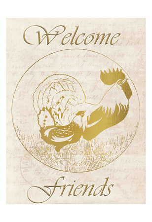 Rooster Welcome Friends Prints by Kimberly Allen