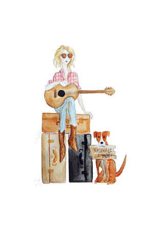 Nashville travel illo Art by Alicia Zyburt