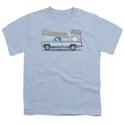 Youth: Chevy- Distressed Silverado & Dash Emblem T-Shirt