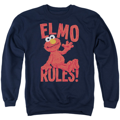 Crewneck Sweatshirt: Sesame Street- Elmo Rules T-shirts