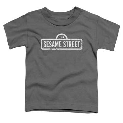 Toddler: Sesame Street- Distressed Logo T-shirts