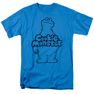 Sesame Street- Contented Cookie Monster Stencil T-shirts