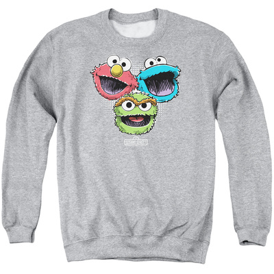 Crewneck Sweatshirt: Sesame Street- Three Lively Monsters T-shirts