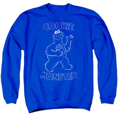 Crewneck Sweatshirt: Sesame Street- Happy Cookie Monster T-shirts