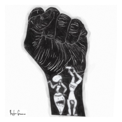 Black Fist Posters by Taylor Greene