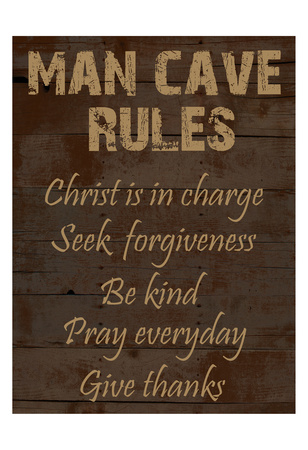 Religious Man Cave Prints by Sheldon Lewis
