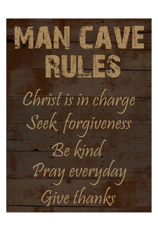 Religious Man Cave Prints by Sheldon Lewis