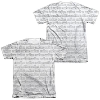 Sesame Street- Tiled Logo (Front/Back) T-shirts