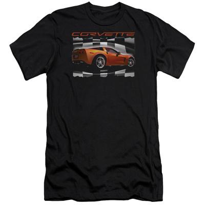 Chevy- Orange Z06 Vette (Slim Fit) T-shirts