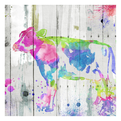 Cow Colorful Prints by  OnRei