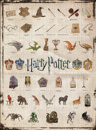 Harry Potter - Icons 1,000 Piece Puzzle Jigsaw Puzzle