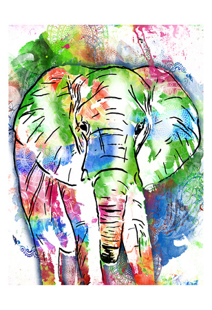 Pattern Elephant Prints by OnRei OnRei