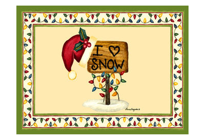 I love Snow Poster by Laurie Korsgaden