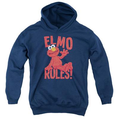 Youth Hoodie: Sesame Street- Elmo Rules Pullover Hoodie