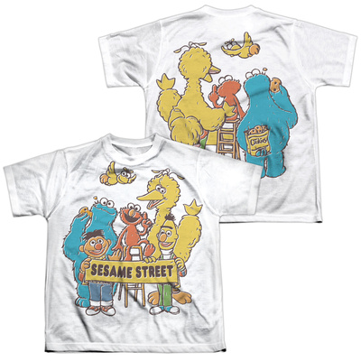 Youth: Sesame Street- Block Party (Front/Back) T-Shirt