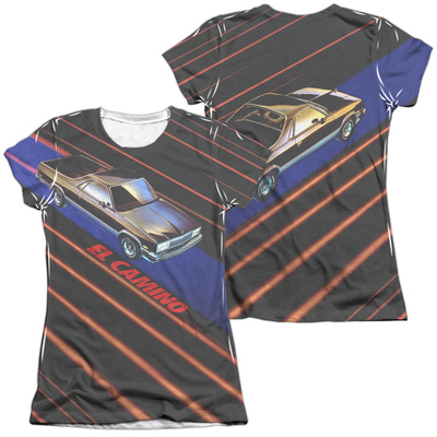 Juniors: Chevy- Laser Camino (Front/Back) T-shirts