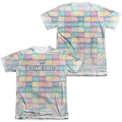 Sesame Street- Logo Color Block (Front/Back) T-Shirt