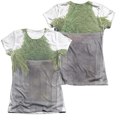 Juniors: Sesame Street- Oscar Costume Tee (Front/Back) T-shirts