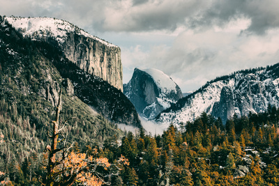 First Glance, Half Dome and El Capitan, Yosemite National Park Photographic Print by Vincent James