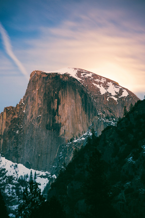 Moon Light Mood, Half Dome, Yosemite National Park, Hiking Outdoors Photographic Print by Vincent James