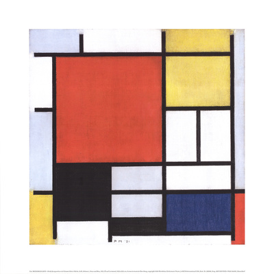 Composition with Large Red Area Posters by Piet Mondrian
