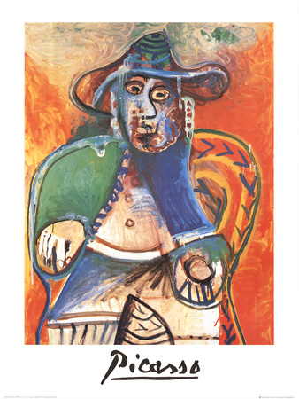 Vieil Homme Assis, Mougins Collectable Print by Pablo Picasso