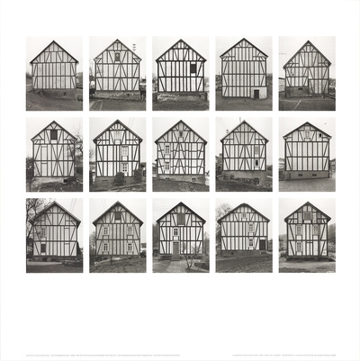 Half-Timbered Houses (no text) Posters by Bernhard And Hilla Becher